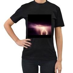 Storm Weather Lightning Bolt Women s T Shirt (black)
