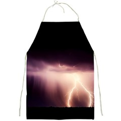 Storm Weather Lightning Bolt Full Print Aprons
