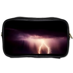 Storm Weather Lightning Bolt Toiletries Bags 2 Side