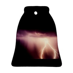 Storm Weather Lightning Bolt Bell Ornament (two Sides)