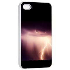 Storm Weather Lightning Bolt Apple Iphone 4/4s Seamless Case (white)