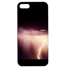 Storm Weather Lightning Bolt Apple Iphone 5 Hardshell Case With Stand