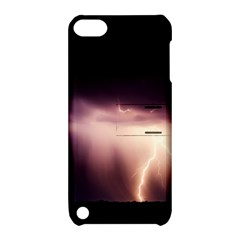 Storm Weather Lightning Bolt Apple Ipod Touch 5 Hardshell Case With Stand