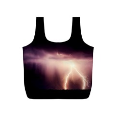 Storm Weather Lightning Bolt Full Print Recycle Bags (s)
