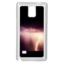 Storm Weather Lightning Bolt Samsung Galaxy Note 4 Case (white)