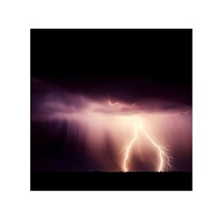 Storm Weather Lightning Bolt Small Satin Scarf (square)