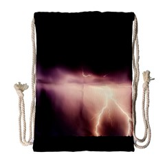 Storm Weather Lightning Bolt Drawstring Bag (large)