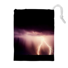 Storm Weather Lightning Bolt Drawstring Pouches (extra Large)