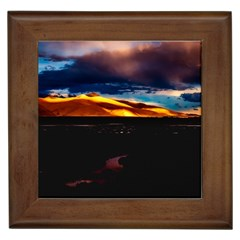 India Sunset Sky Clouds Mountains Framed Tiles