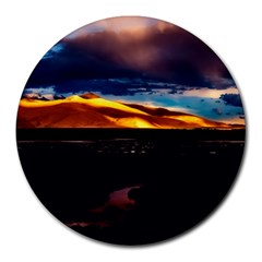 India Sunset Sky Clouds Mountains Round Mousepads