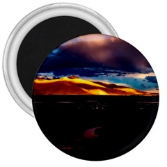 India Sunset Sky Clouds Mountains 3  Magnets