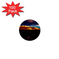 India Sunset Sky Clouds Mountains 1  Mini Magnets (100 Pack)