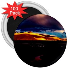 India Sunset Sky Clouds Mountains 3  Magnets (100 Pack)
