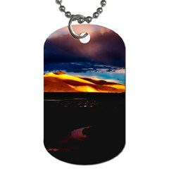 India Sunset Sky Clouds Mountains Dog Tag (one Side)