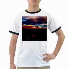 India Sunset Sky Clouds Mountains Ringer T Shirts