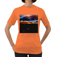 India Sunset Sky Clouds Mountains Women s Dark T Shirt