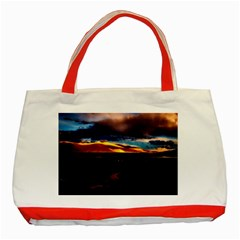 India Sunset Sky Clouds Mountains Classic Tote Bag (red)