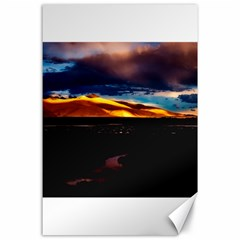 India Sunset Sky Clouds Mountains Canvas 24  X 36