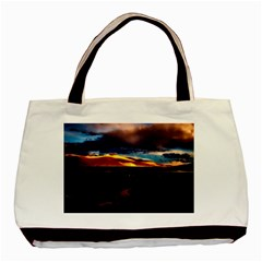 India Sunset Sky Clouds Mountains Basic Tote Bag (two Sides)