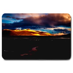 India Sunset Sky Clouds Mountains Large Doormat