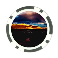 India Sunset Sky Clouds Mountains Poker Chip Card Guard