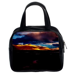 India Sunset Sky Clouds Mountains Classic Handbags (2 Sides)