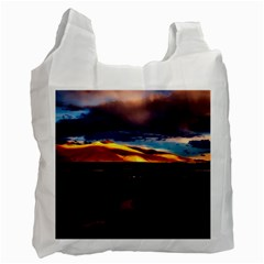 India Sunset Sky Clouds Mountains Recycle Bag (one Side)