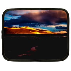India Sunset Sky Clouds Mountains Netbook Case (xl)