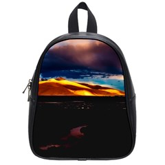 India Sunset Sky Clouds Mountains School Bag (small)