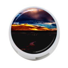 India Sunset Sky Clouds Mountains 4 Port Usb Hub (one Side)