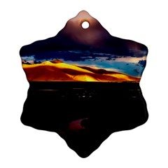 India Sunset Sky Clouds Mountains Snowflake Ornament (two Sides)