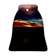 India Sunset Sky Clouds Mountains Bell Ornament (two Sides)