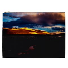 India Sunset Sky Clouds Mountains Cosmetic Bag (xxl)