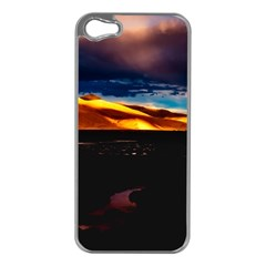 India Sunset Sky Clouds Mountains Apple Iphone 5 Case (silver)