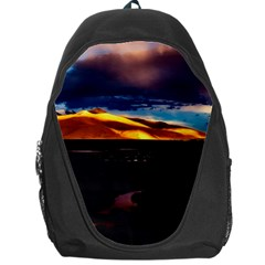 India Sunset Sky Clouds Mountains Backpack Bag