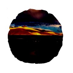 India Sunset Sky Clouds Mountains Standard 15  Premium Round Cushions