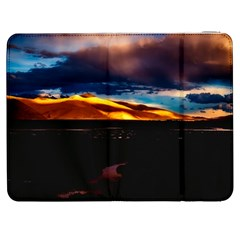 India Sunset Sky Clouds Mountains Samsung Galaxy Tab 7  P1000 Flip Case