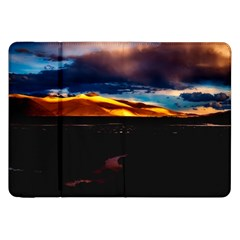 India Sunset Sky Clouds Mountains Samsung Galaxy Tab 8 9  P7300 Flip Case