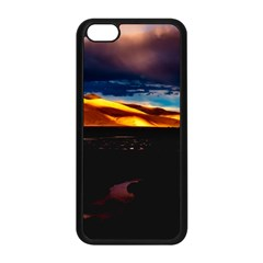India Sunset Sky Clouds Mountains Apple Iphone 5c Seamless Case (black)