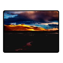 India Sunset Sky Clouds Mountains Double Sided Fleece Blanket (small)