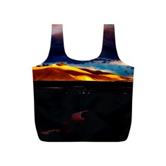 India Sunset Sky Clouds Mountains Full Print Recycle Bags (s)