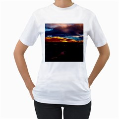 India Sunset Sky Clouds Mountains Women s T Shirt (white)