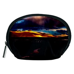 India Sunset Sky Clouds Mountains Accessory Pouches (medium)