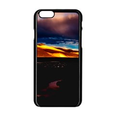 India Sunset Sky Clouds Mountains Apple Iphone 6/6s Black Enamel Case