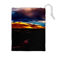 India Sunset Sky Clouds Mountains Drawstring Pouches (extra Large)