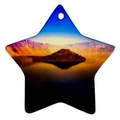 Crater Lake Oregon Mountains Ornament (star)