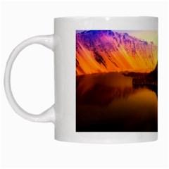 Crater Lake Oregon Mountains White Mugs