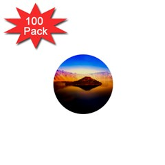 Crater Lake Oregon Mountains 1  Mini Buttons (100 Pack)