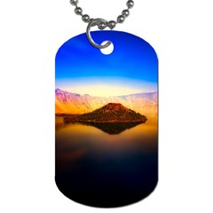 Crater Lake Oregon Mountains Dog Tag (two Sides)