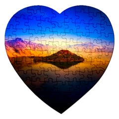 Crater Lake Oregon Mountains Jigsaw Puzzle (heart)